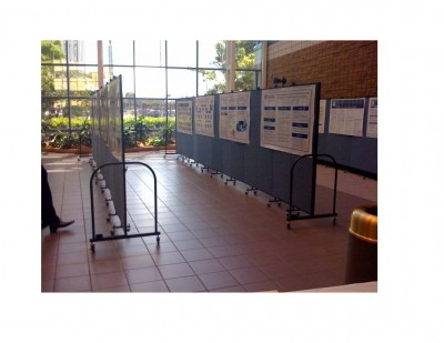UF HSC-J Poster boards displaying abstracts